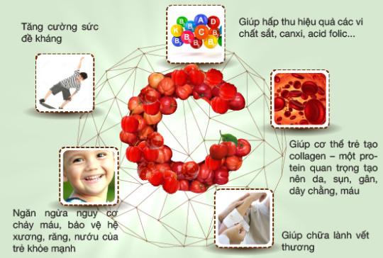 """2. Vitamin C tự nhiên - """"thuốc tiên"""" cho hệ miễn dịch của trẻ 1"""