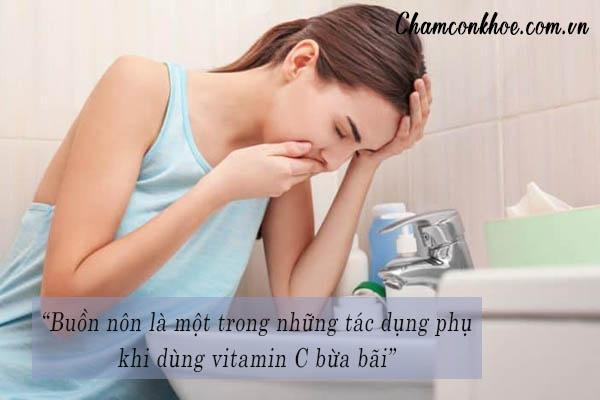 Những tác dụng phụ thường gặp khi sử dụng vitamin C 1