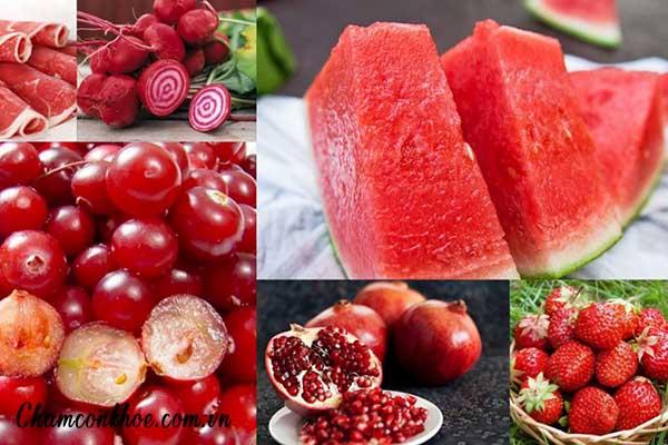 Dùng đồ ăn thức uống màu đỏ, đen, nâu 1