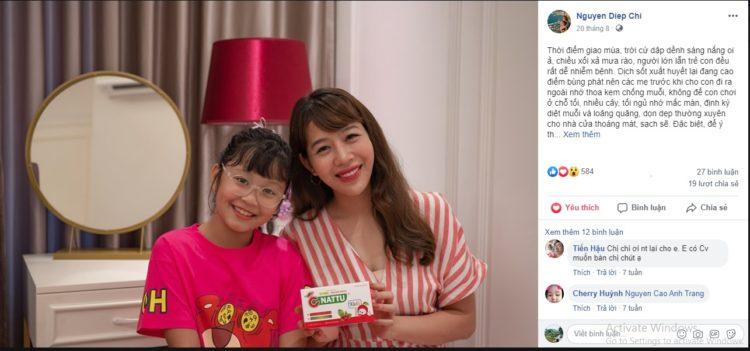 Chia sẻ của bà mẹ nổi tiếng – MC Diệp Chi về Cnattu Kids 1