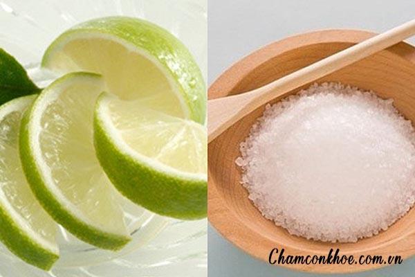 Công thức muối + nước cốt chanh 1