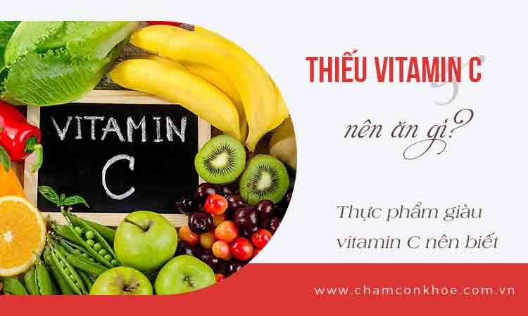 Thiếu vitamin C nên ăn gì? 1